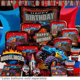Monster Truck Birthday Ultimate Tableware Kit Serves 8