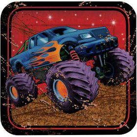 Monster Truck Cake Plates (8-pack)