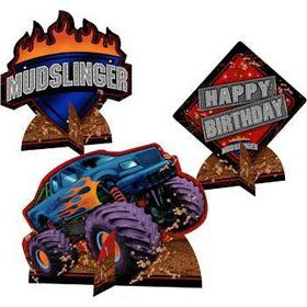 Monster Truck Centerpiece (set of 3)