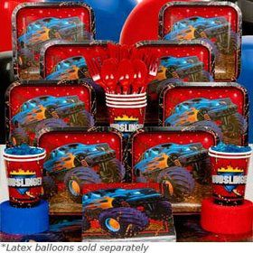 Monster Truck Deluxe Tableware Birthday Kit Serves 8