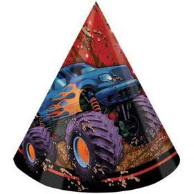 Monster Truck Party Hats (8-pack)