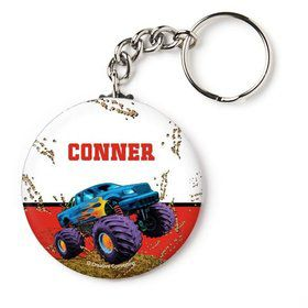 "Monster Truck Personalized 2.25"" Key Chain (Each)"