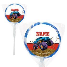 "Monster Truck Personalized 2"" Lollipops (20 Pack)"