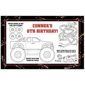 Monster Truck Personalized Activity Mats (8-pack)