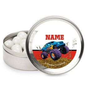 Monster Truck Personalized Candy Tins (12 Pack)