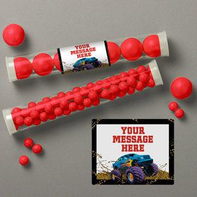 Monster Truck Personalized Candy Tubes (12 Count)