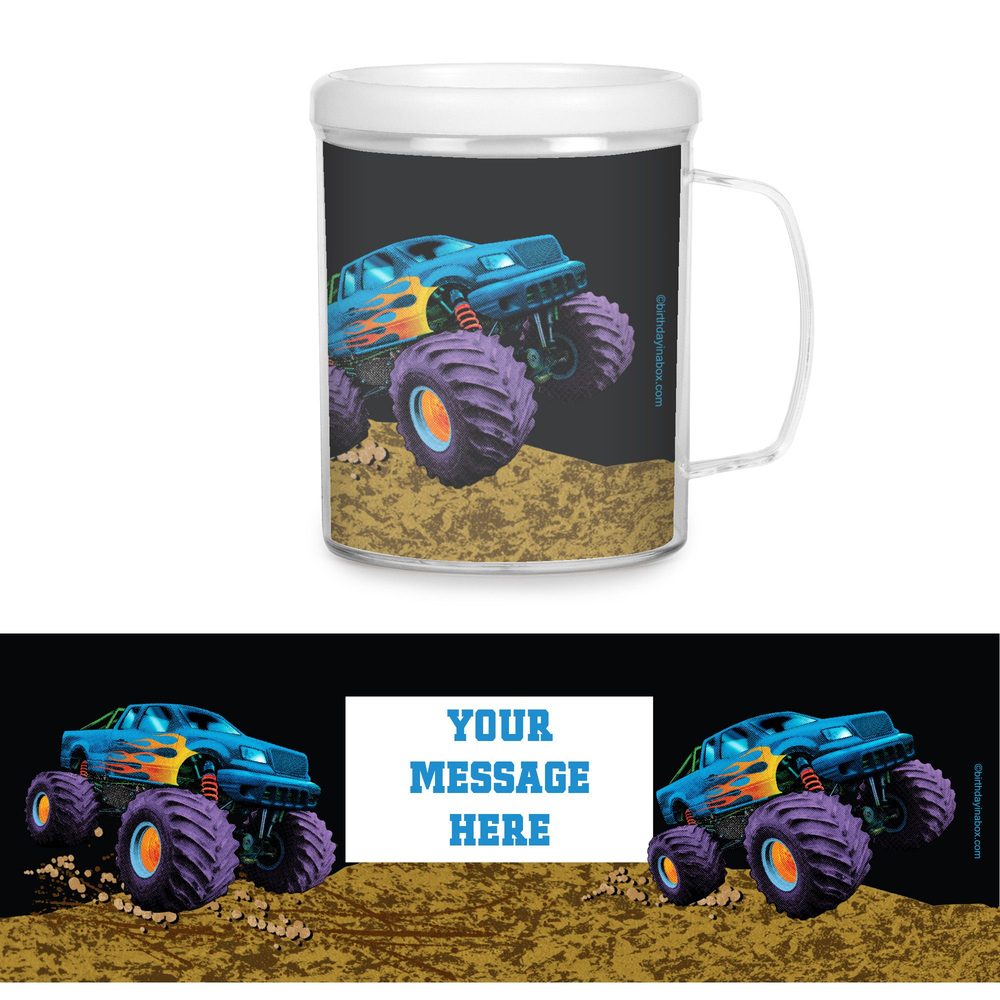 Monster Truck Personalized Favor Mugs (Each) - Party Supplies BB021398CUP
