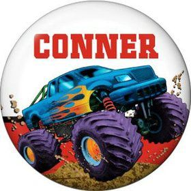 Monster Truck Personalized Mini Button (each)