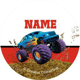 Monster Truck Personalized Mini Stickers (Sheet of 20)