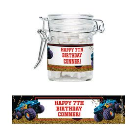 Monster Trucks Personalized Swing Top Apothecary Jars (12 ct)