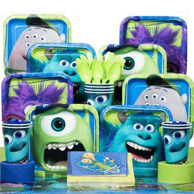 Monsters Birthday Party Deluxe Tableware Kit Serves 8