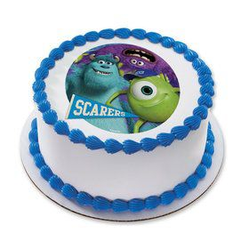 "Monsters Inc. 7.5"" Round Edible Cake Topper (Each)"