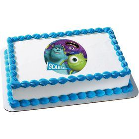 Monsters Inc. Quarter Sheet Edible Cake Topper (Each)