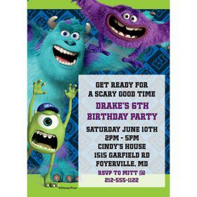 Monsters Personalized Invitation (Each)