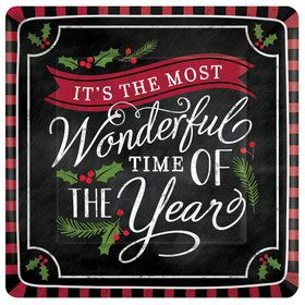 """Most Wonderful Time of The Year 10"""" Plates (8)"""