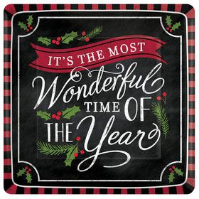 """Most Wonderful Time of The Year 7"""" Plates (8)"""