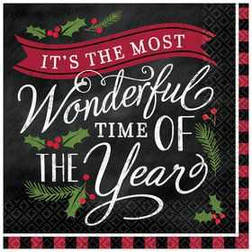 Most Wonderful Time of The Year Lunch Napkins (16)