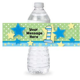 Mouse 1st Birthday Personalized Bottle Label (Sheet of 4)