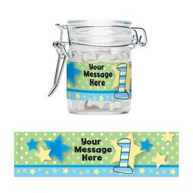 Mouse 1st Birthday Personalized Swing Top Apothecary Jars (12 ct)