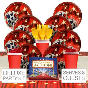 Movie Birthday Party Deluxe Tableware Kit Serves 8