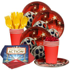 Movie Birthday Party Standard Tableware Kit Serves 8