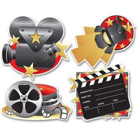 "Movie Set Cutouts 16"" (4 Count)"