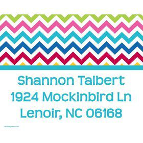 Multi Chevron Personalized Address Labels (Sheet Of 15)
