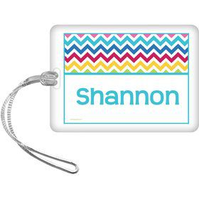 Multi Chevron Personalized Bag Tag (Each)