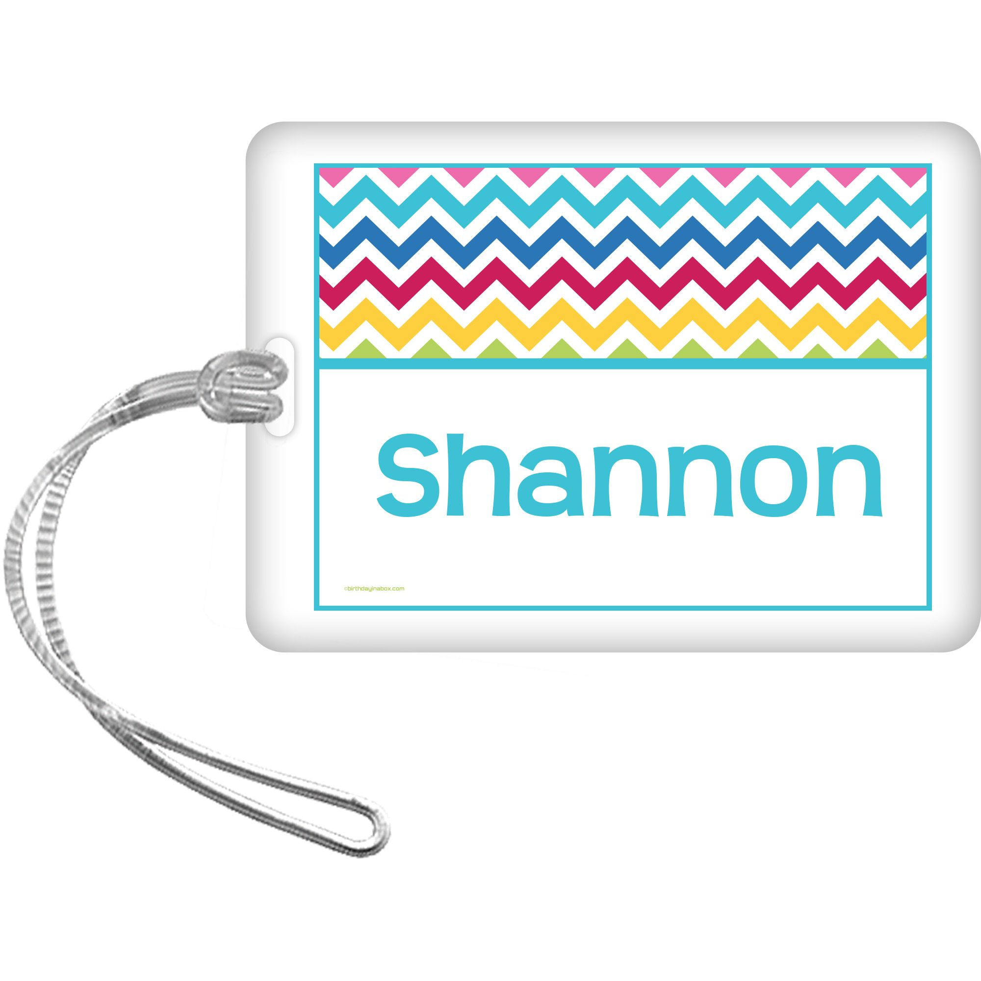 Multi Chevron Personalized Bag Tag (Each) BB1404BG