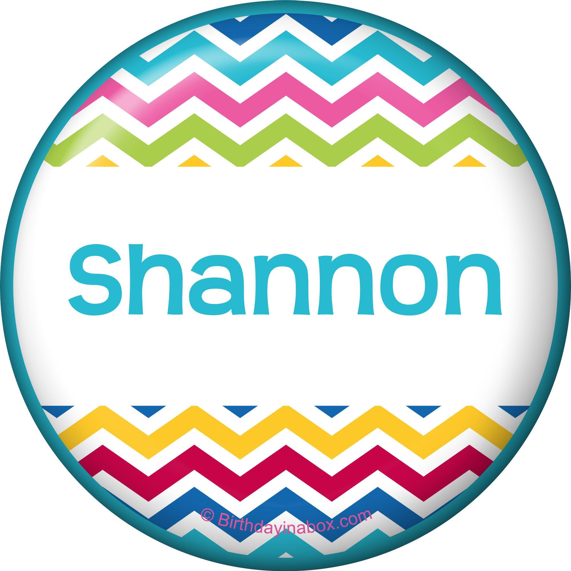 Multi Chevron Personalized Button (Each) BB1404BT