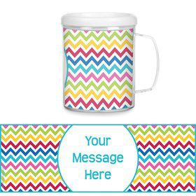 Multi Chevron Personalized Favor Mugs (Each)