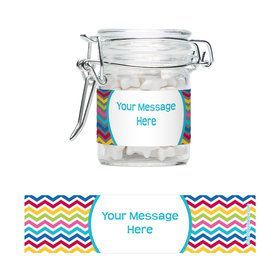 Multi Chevron Personalized Glass Apothecary Jars (10 Count)