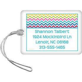 Multi Chevron Personalized Luggage Tag (Each)