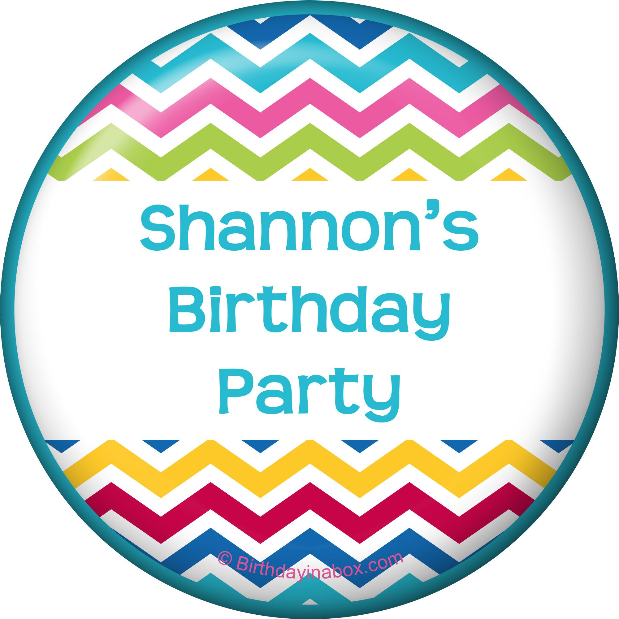 Multi Chevron Personalized Magnet (Each) - Party Supplies BB1404MG