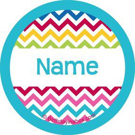 Multi Chevron Personalized Mini Stickers (Sheet of 20)