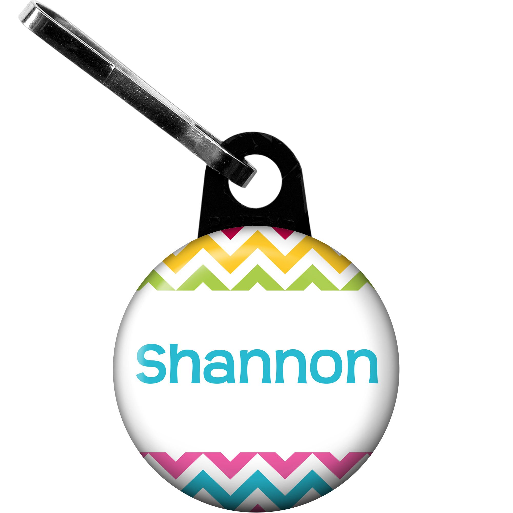 Multi Chevron Personalized Zipper Pull (Each) - Party Supplies BB1404ZP