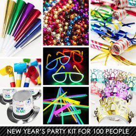 Multi-Color New Years Kit (For 100 Guests)