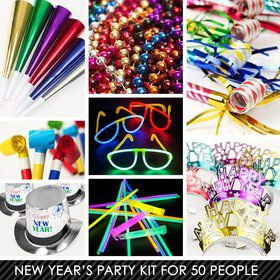 Multi-Color New Years Kit (For 50 Guests)