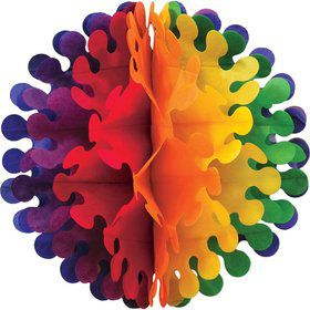 Multicolored Honeycomb Tissue Ball (each)