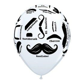 "Mustache 11"" Latex Balloons (50 Pack)"