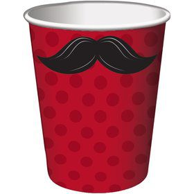 Mustache Madness 9oz Cups (8 Count)