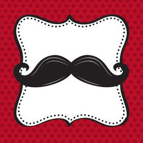 Mustache Madness Beverage Napkins (16 Count)