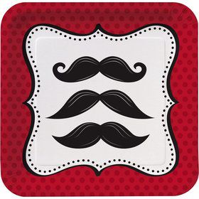 Mustache Madness Cake Plates (8 Count)
