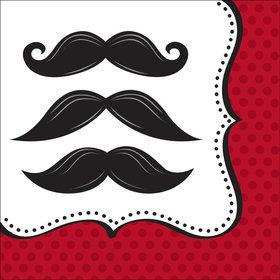 Mustache Madness Luncheon Napkins (16 Count)
