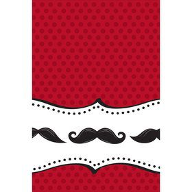 Mustache Madness Table Cover (Each)