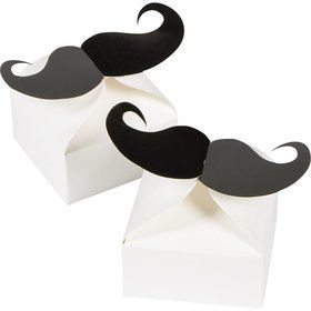 Mustache Party Paper Favor Boxes (6 Count)
