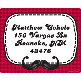 Mustache Personalized Address Labels (Sheet of 15)