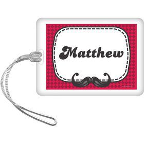 Mustache Personalized Bag Tag (Each)