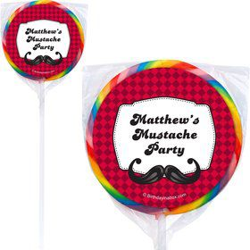 Mustache Personalized Lollipops (12 Pack)