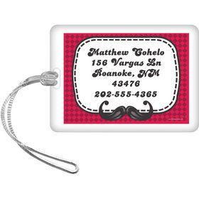 Mustache Personalized Luggage Tag (Each)